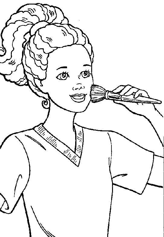 Pin de Géorgina Kincaid en Coloriages Barbie | Pinterest