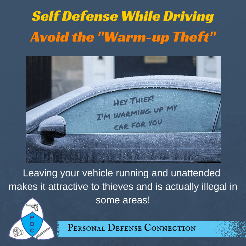 Don\'t leave your car running and unattended. We know it may be cold ...