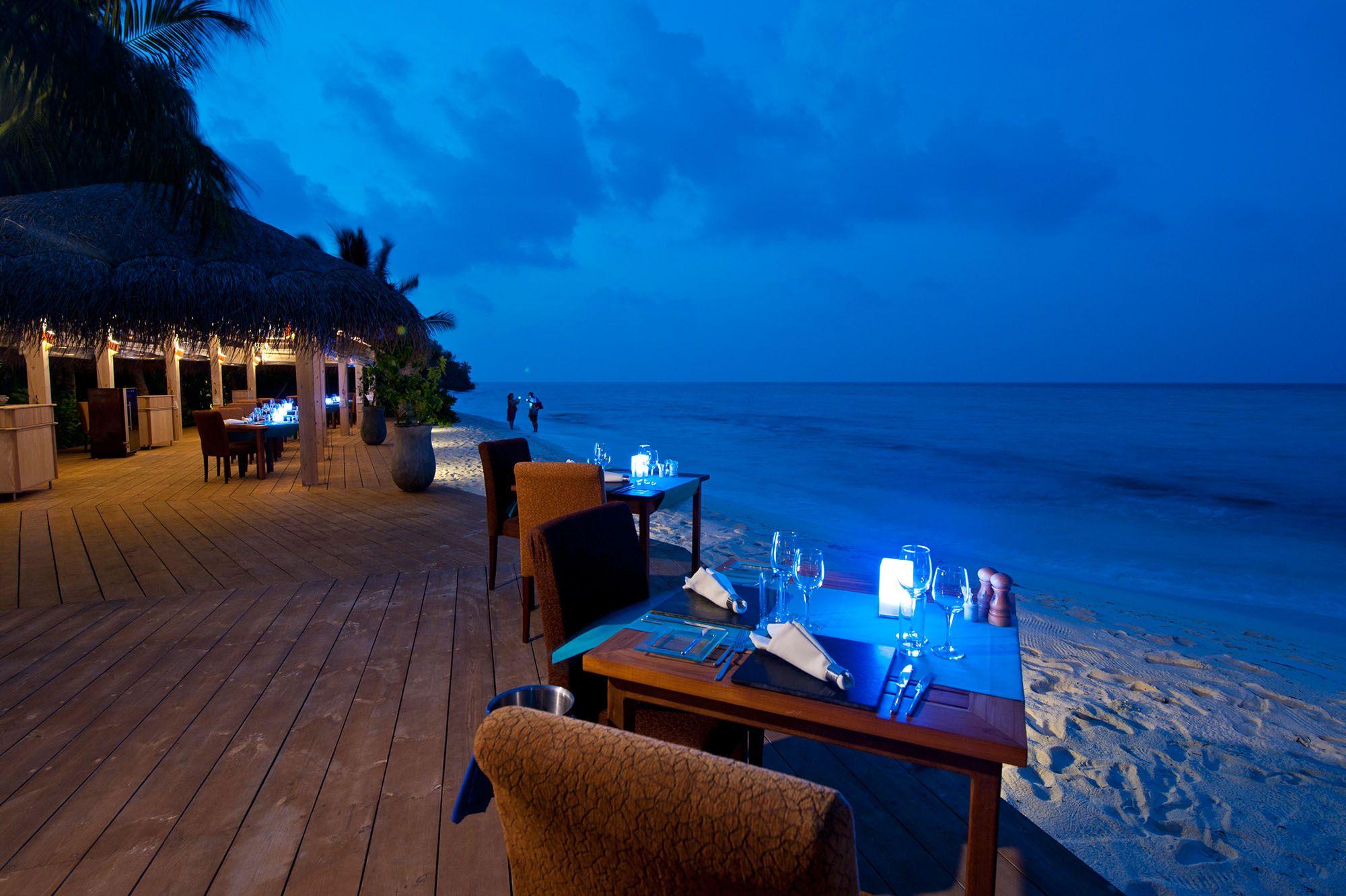 Kuramathi Island Resort In The Maldives 55 Romantic Beach Getaways Beach At Night Island Resort