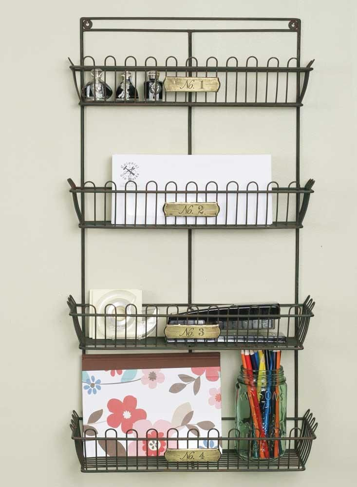 numbered wire wall organizer organize small spaces rh pinterest de