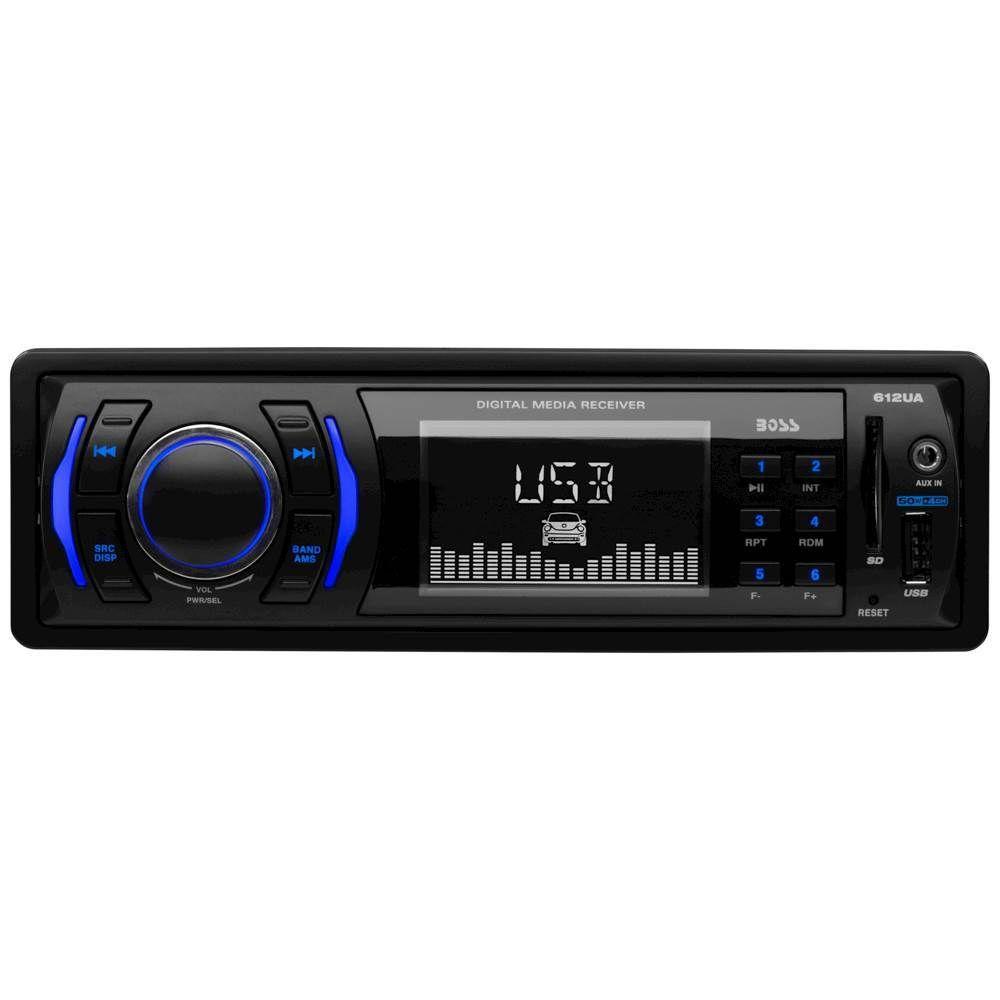 Boss Audio In Dash Digital Media Receiver Black 612ua Best Buy In 2020 Boss Audio Car Stereo Fm Radio Receiver