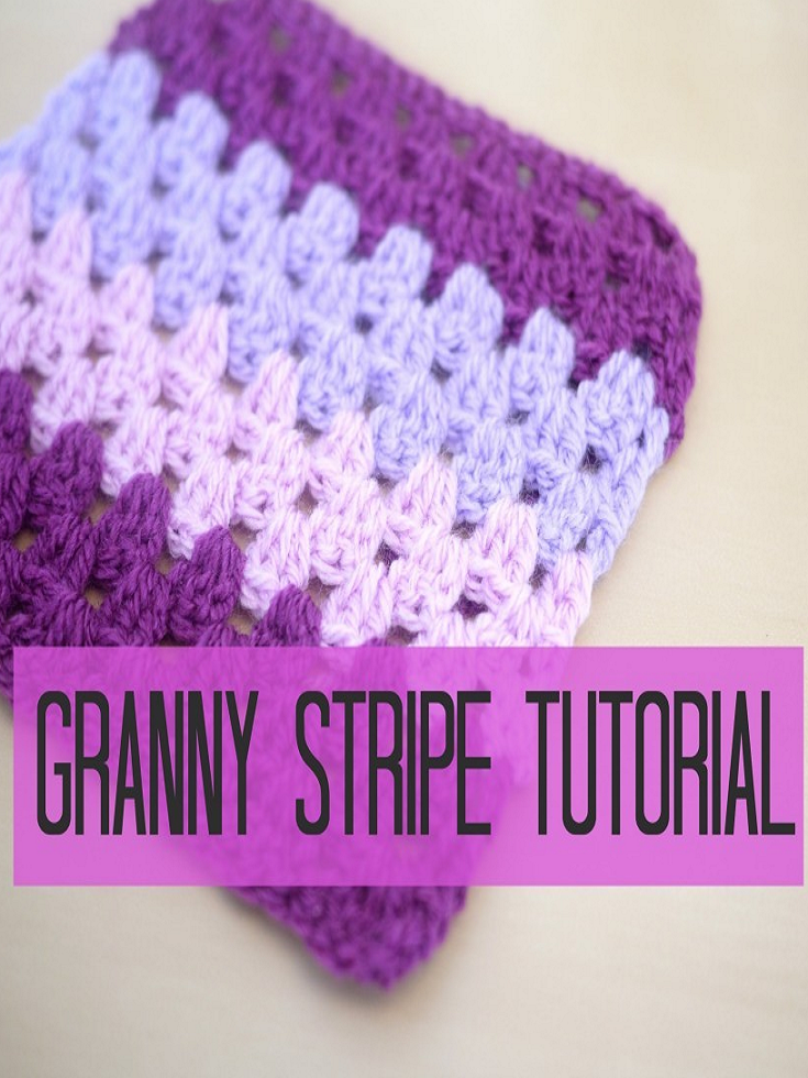 Video Tutorial] Learn How To Make A Granny Stripe Blanket With An ...