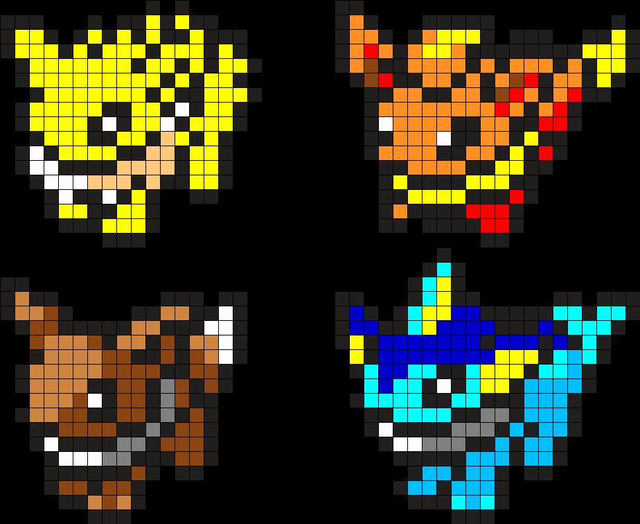 Картинки по клеточкам в тетради покемон