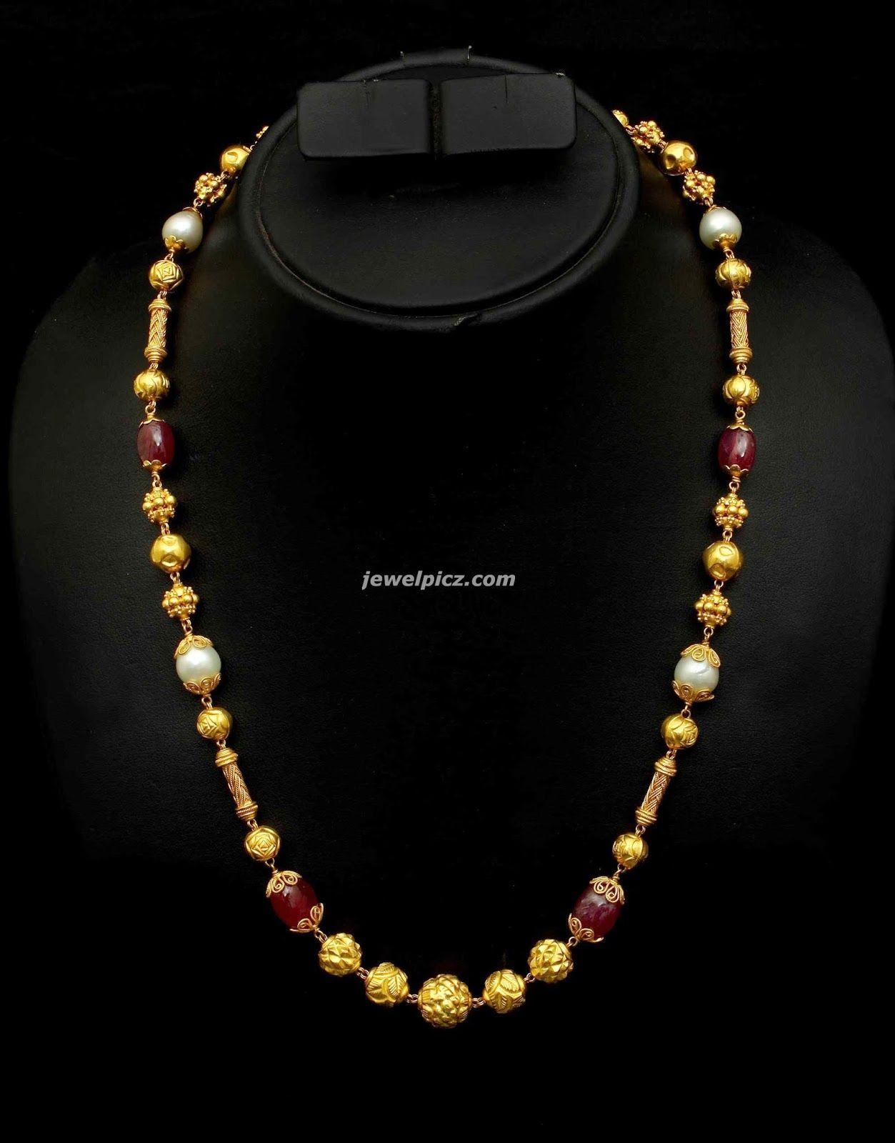 Gem Stone Gundla Haram Mala By Vbj Jewellery Perfumes