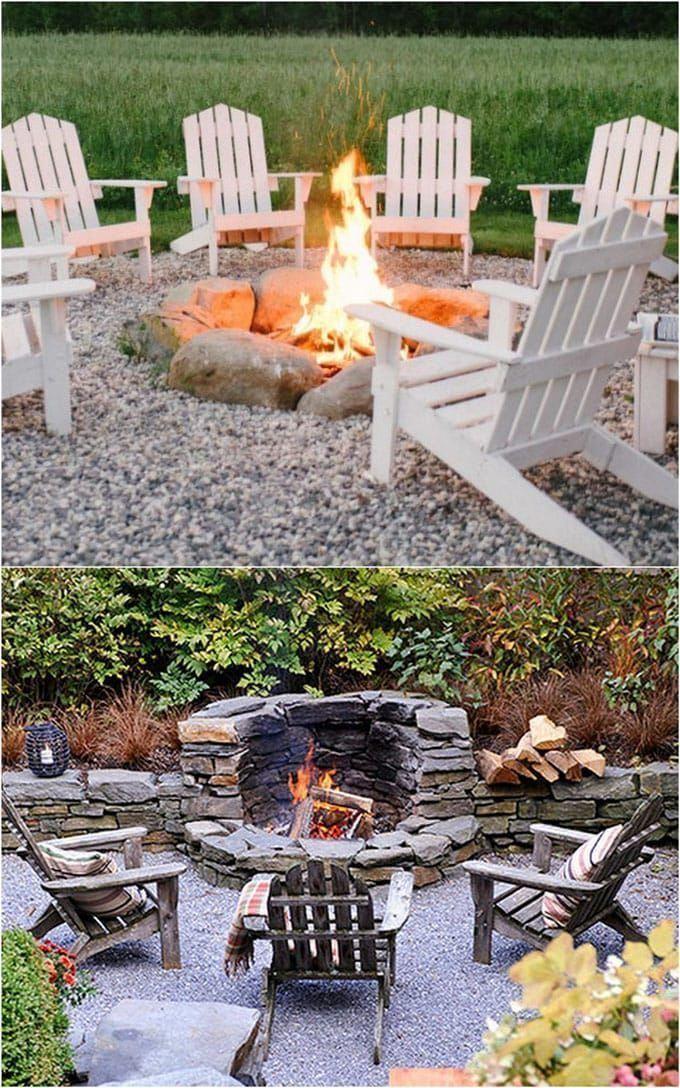 24 Best Fire Pit Ideas to DIY or Buy ( Lots of Pro Tips! ) #diyfirepit