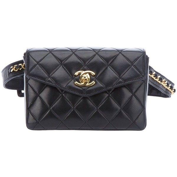 foto ufficiali c789e 7d7ed Chanel Vintage Clutch e pochete preta vintage. ❤ liked on ...
