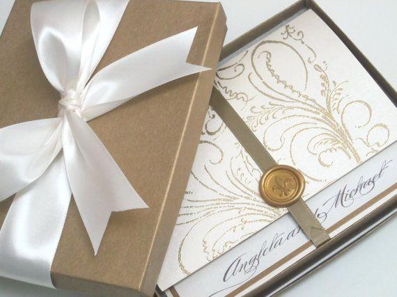 Boîte Invitation De Mariage Luxe Marie Par Anistadesigns 13 50 Luxury Wedding