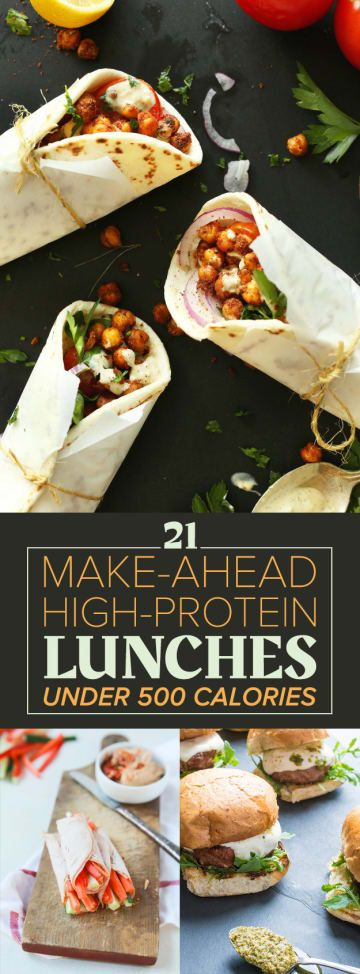 21 High-Protein Lunches Under 500 Calories #proteinlunch