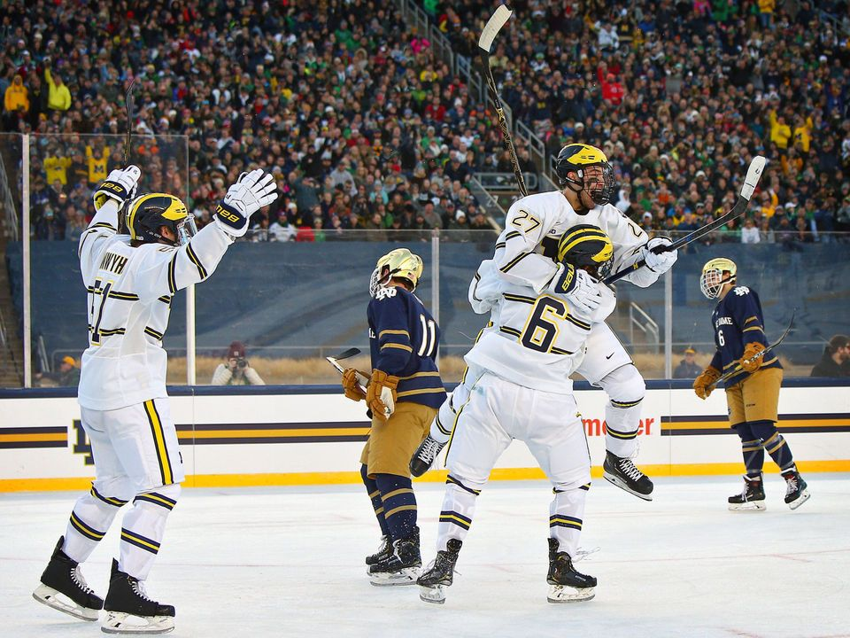 Our favorite photos from Michigan s win over Notre Dame in outdoor hockey  game  84ab432242bc