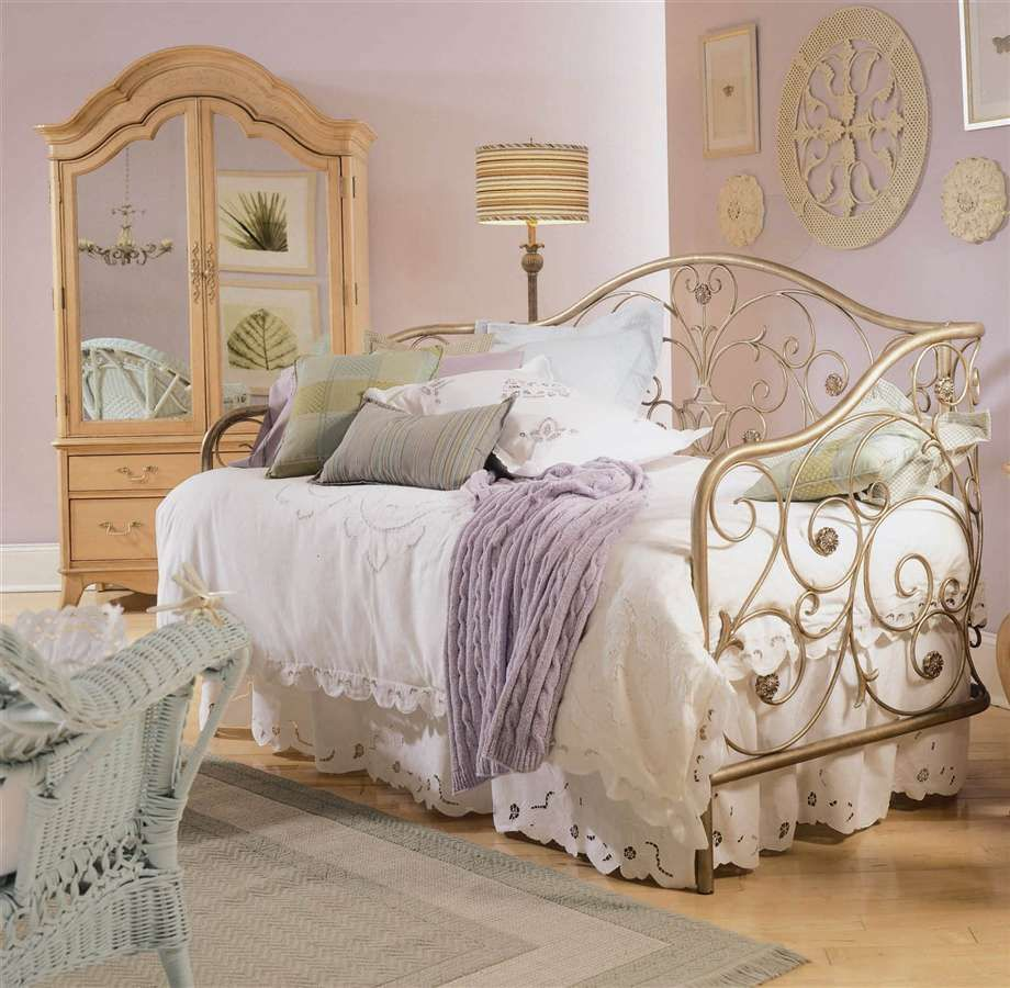 modern vintage bedroom ideas%0A Bedroom Mirrored Armoire Door And Wicker Chair Plus Pretty Iron Bed Set On Vintage  Bedroom Ideas