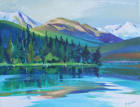 The work of Canadian Artist Zoe Evamy is featured at the mountain galleries at the fairmont.