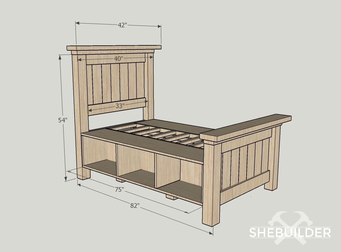 40+ Twin farmhouse bed frame type