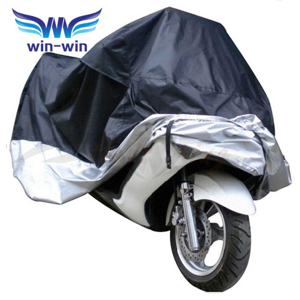 Medium Size Waterproof Motorcycle Cover Street Bike Outdoor Rain Dust Motorbike