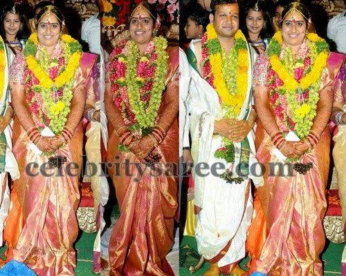 0c4cde22f349c Kavitha Daughter Wedding Saree