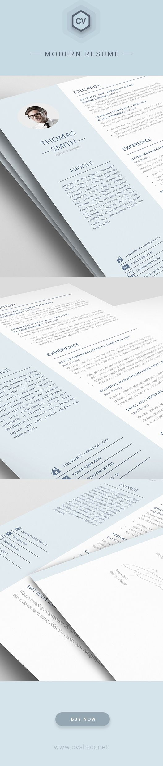cover letters for educators%0A Modern Resume Template        is for anyone looking to create a  professional resume and cover letter with ease  Edit in MS Word and iWork  Pages