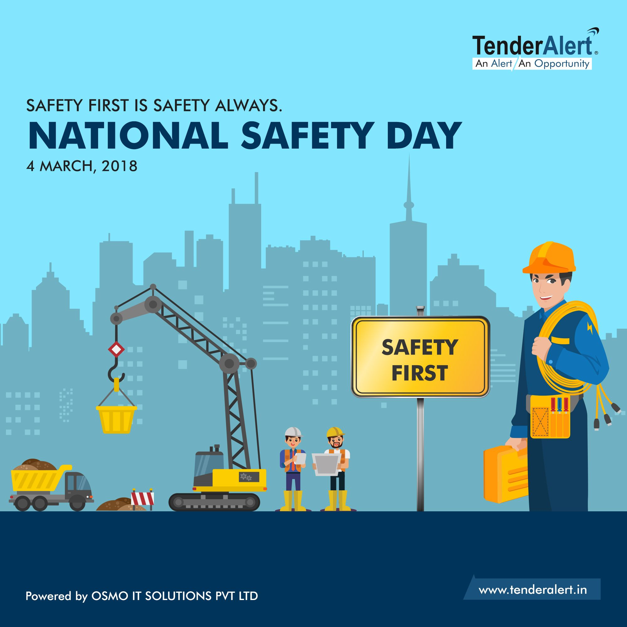 National Safety Day is used to celebrate to more
