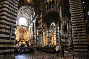 My favorite Duomo in Italy, from Siena. The black and white stripes are great.