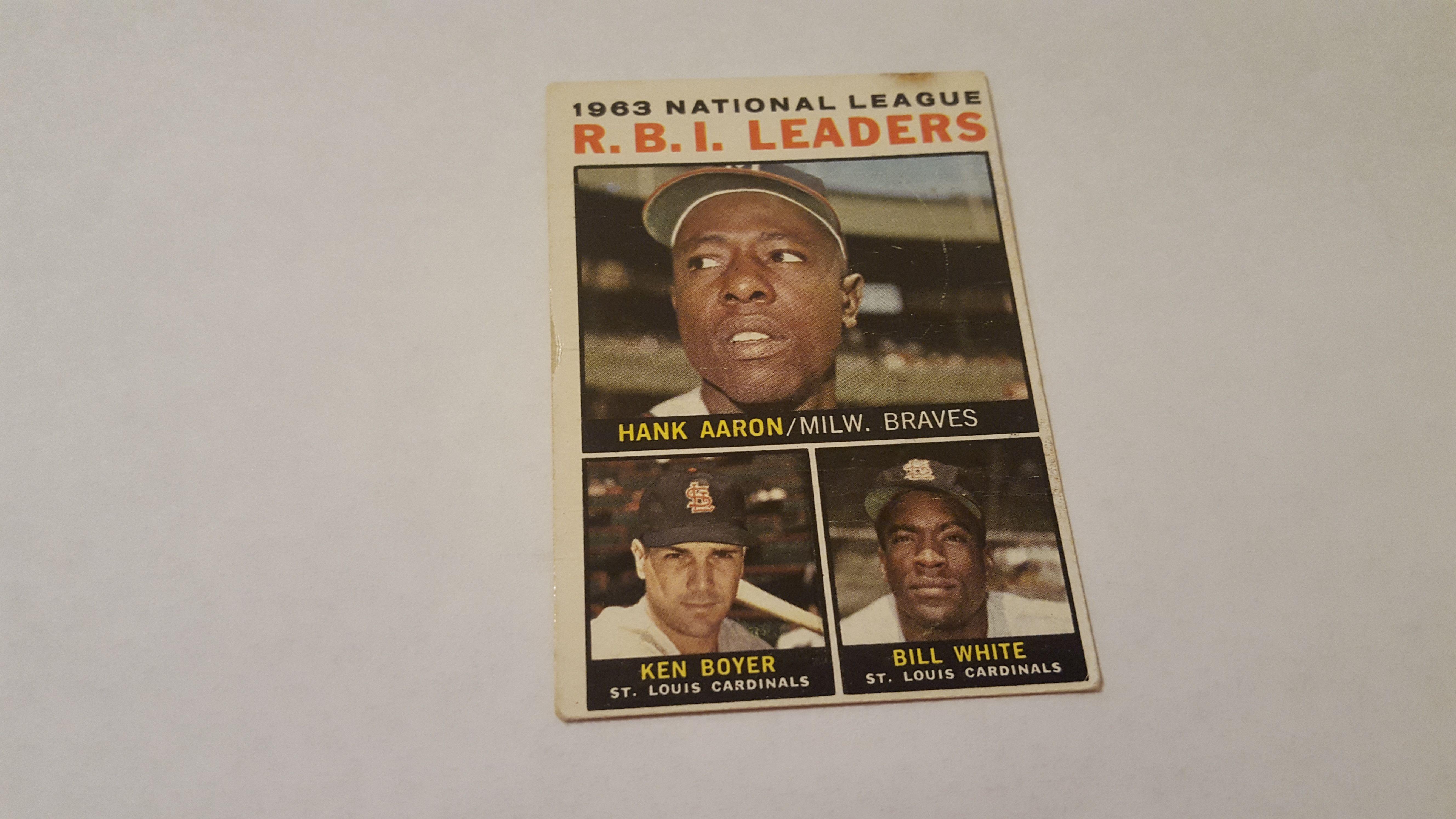 1964 topps hank aaron single baseball card baseball