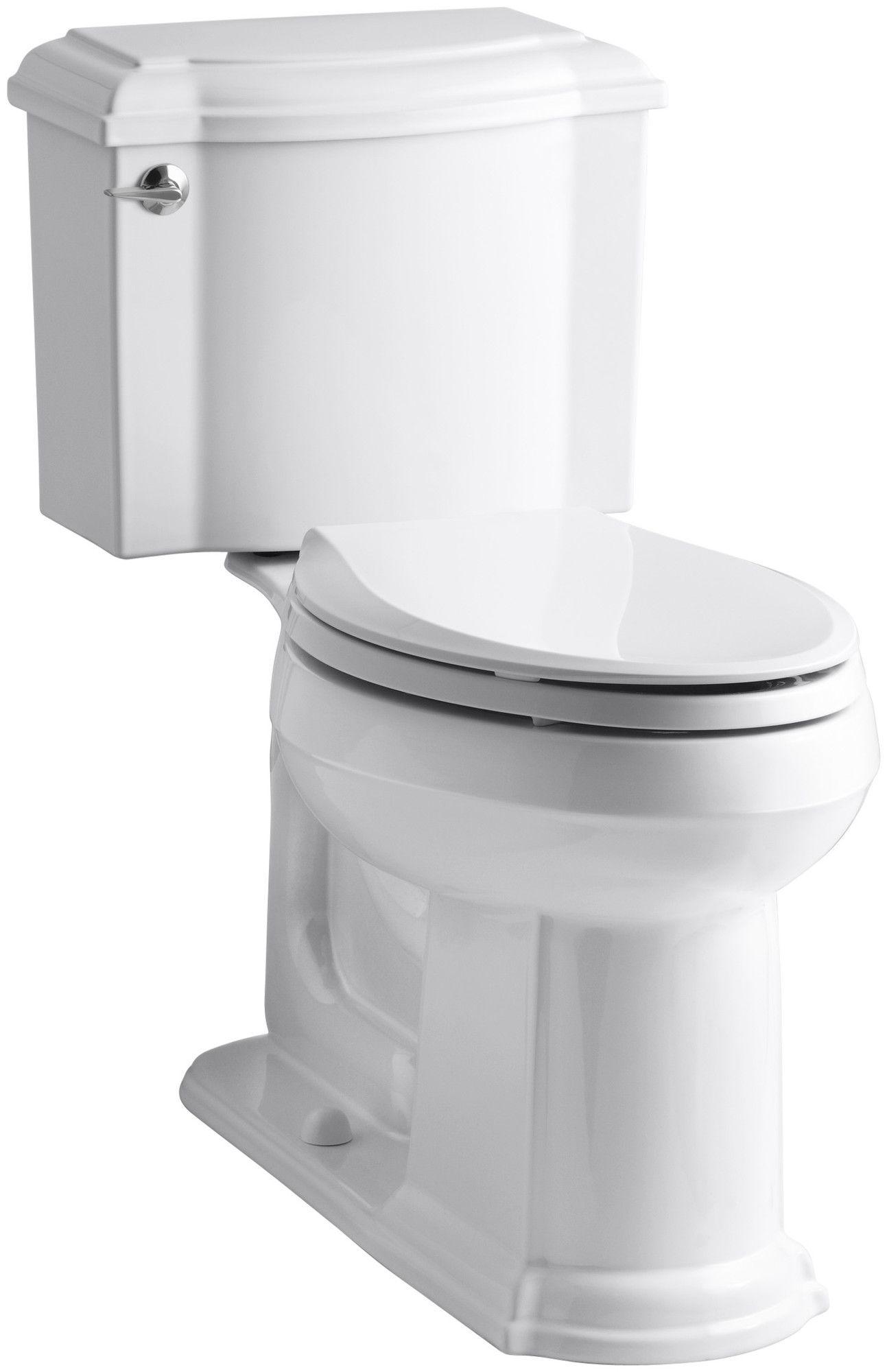 Devonshire Comfort Height Two Piece Elongated Toilet Kohler Devonshire Kohler Toilet Modern Bathroom Design