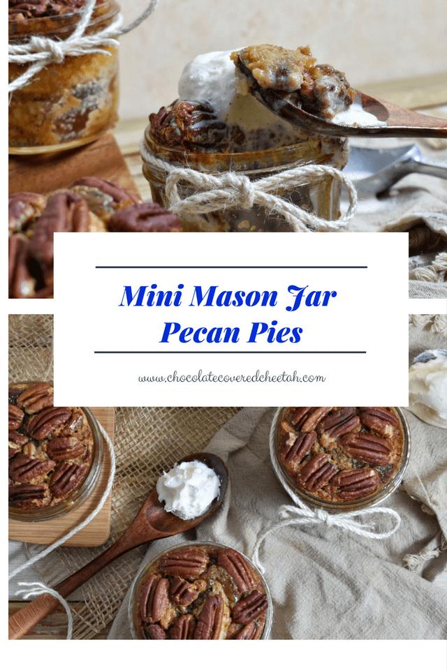 Mini Mason Jar Pecan Pies