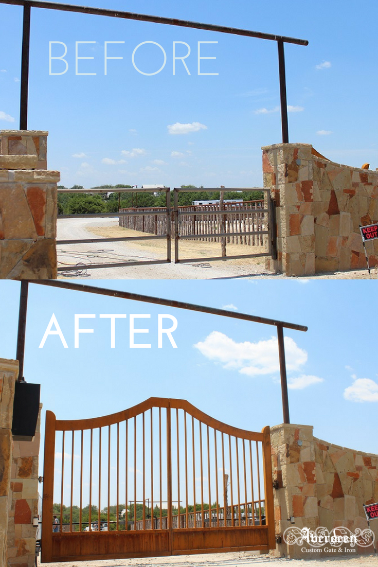 the enhanced rust on these new ranch gates make them fit the rustic rh pinterest com