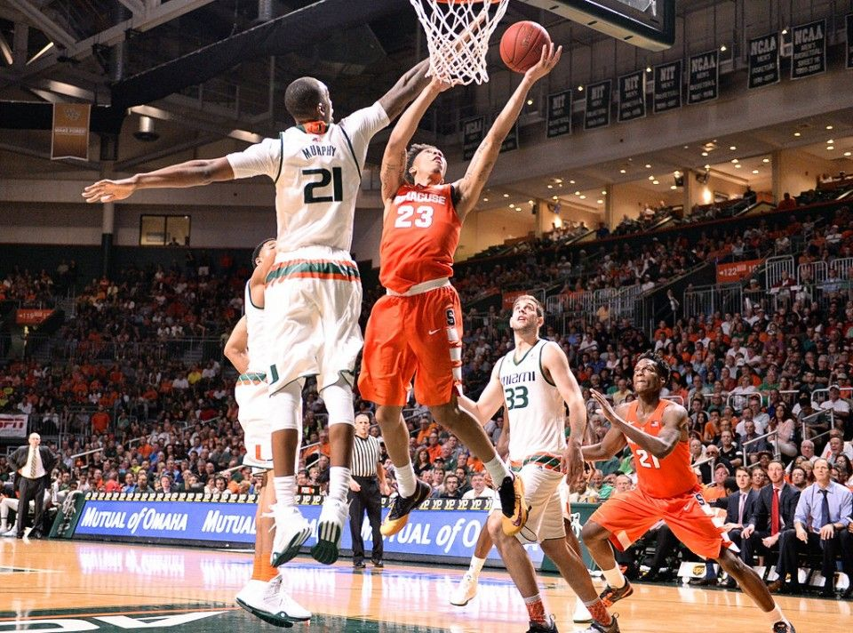 Syracuse University guard Malachi Richardson (23) under the basket in the second half of the Syracuse-Miami game played in Coral Gables Fl., Jan. 2, 2016. Dennis Nett | dnett@syracuse.com