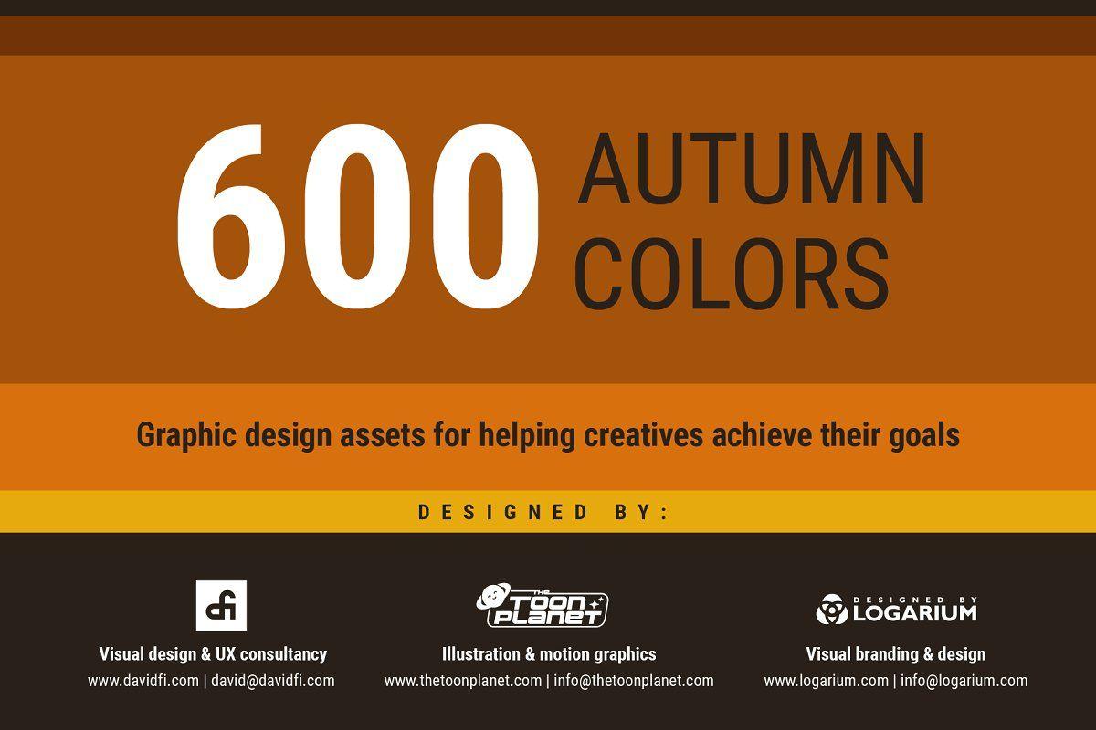 Halloween Color Palette 2020 Adobe Illustrator 600 Autumn Halloween Color Swatches