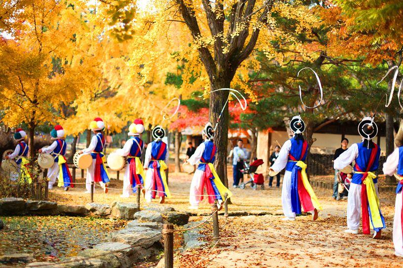 fall colors, south korea  #colorsoftheworld