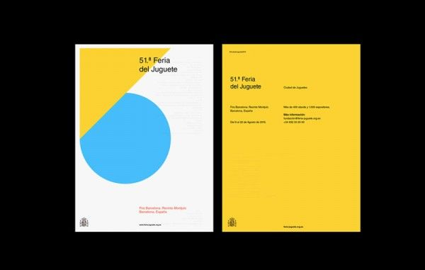 The posters are based on playfulness, simple typography, graphics, and geometry.