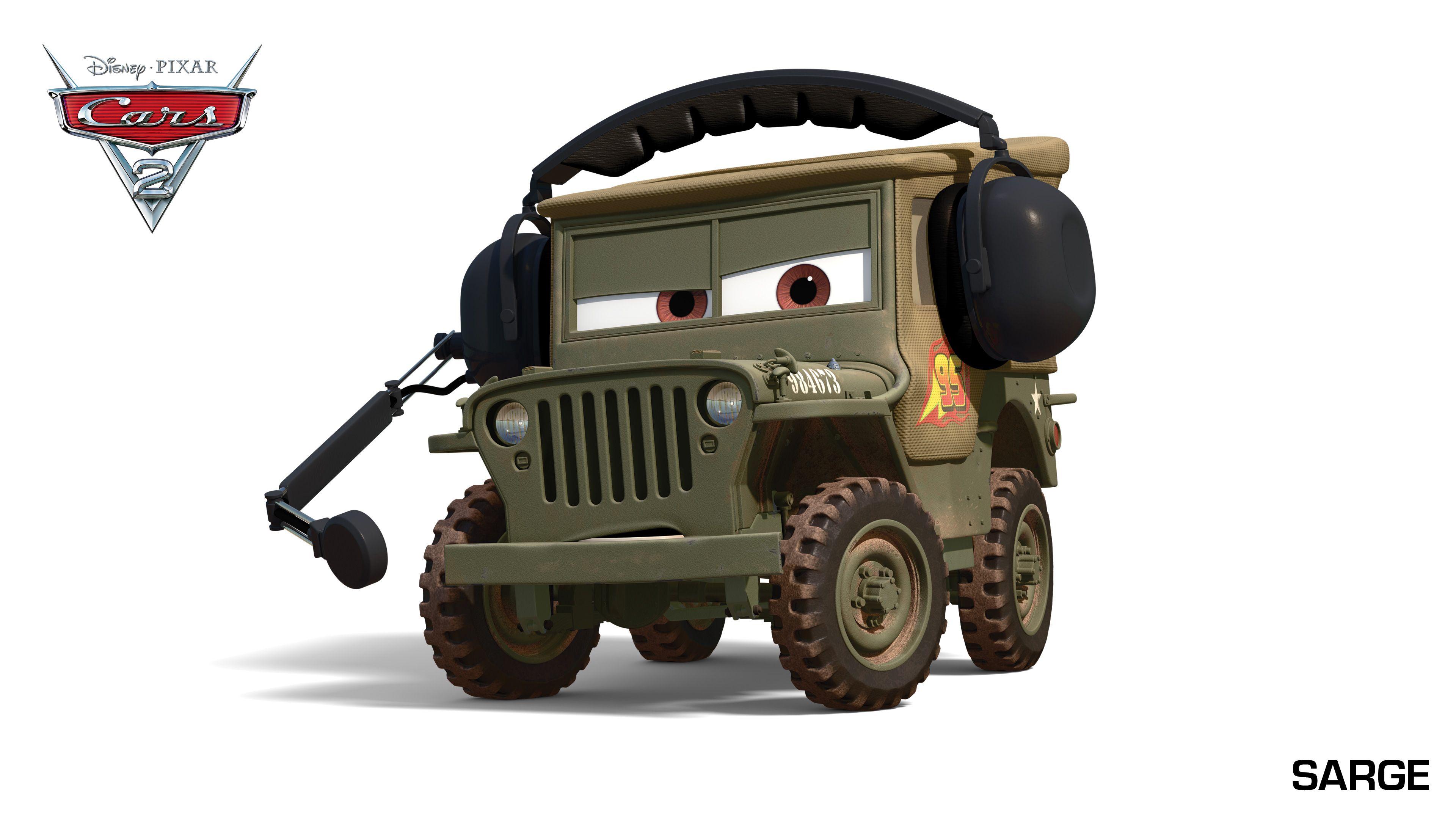 cars movie sarge