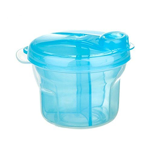 Babykings Powder Formula Dispenser And Snack Cup Portable Travel Container Bottle Storage Blue