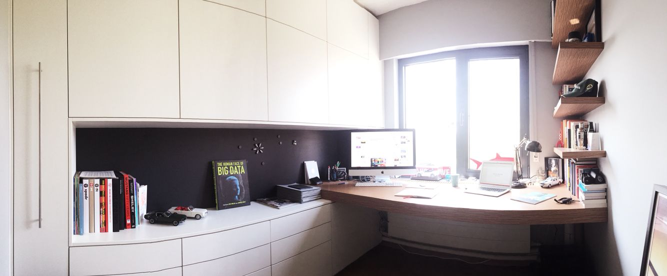 Inspired and designed. This is how my home office ended up to be.
