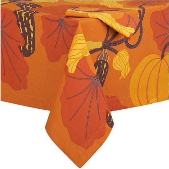Marimekko Kumina Orange Tablecloth And Napkin