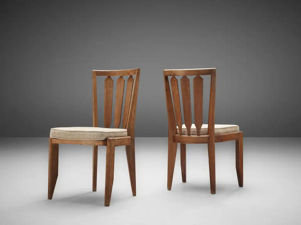 Set Of Four Guillerme Et Chambron Dining Chairs In Oak Dining Chairs Oak Dining Chairs Oak Dining Room Chairs Set of four dining chairs