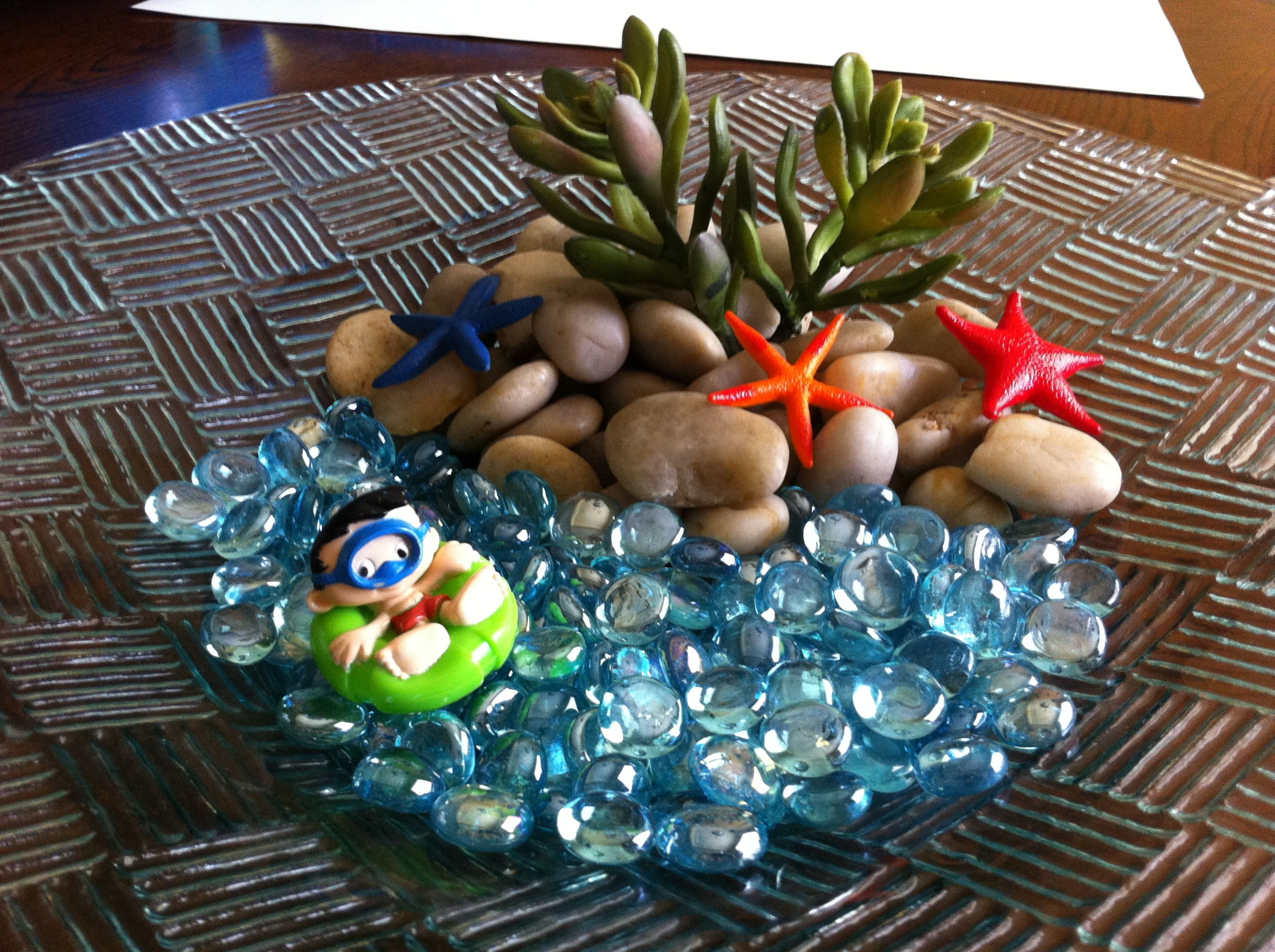 Going to put decoration like this in a faux fish bowl for my son