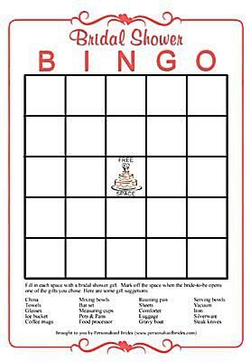 print off these free bingo cards for an easy bridal shower game bridal shower bingo from personalized brides
