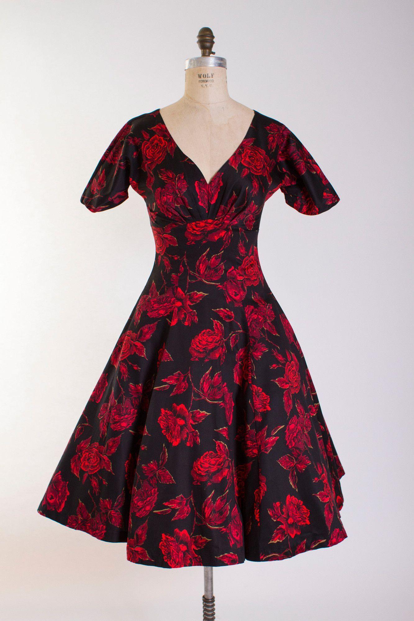 Midnight Rose Wendy Dress