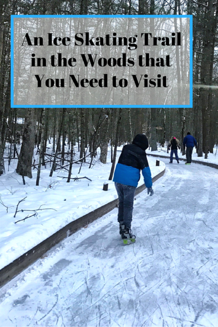 an ice skating trail in the woods that you need to visit in 2019 rh pinterest com
