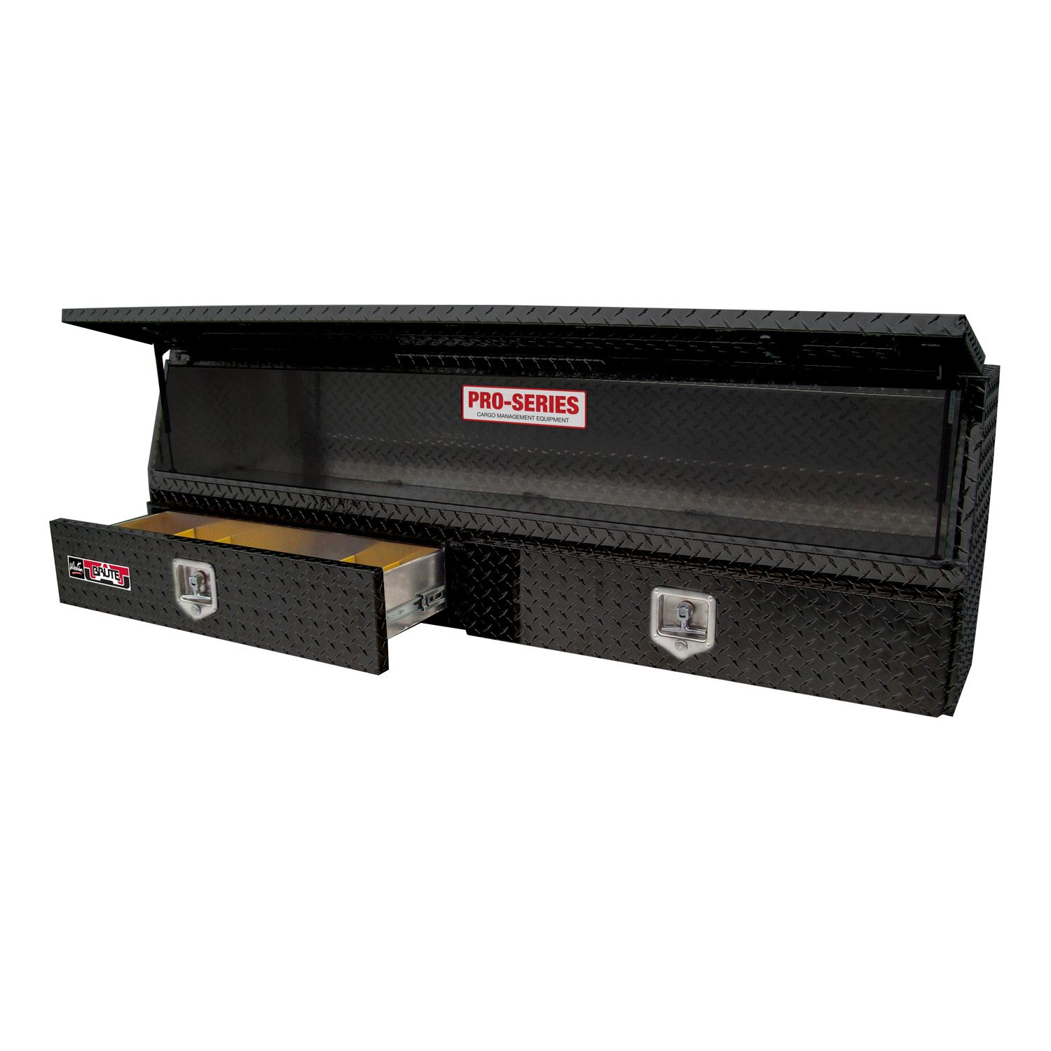Contractor TopSider 72in w/Bottom Drawers Black Powder