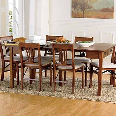 3 in 1 expandable wood table and folding chairs 169 99 399 99 rh pinterest com