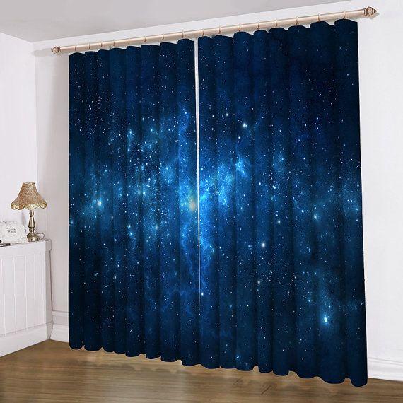 Blauwe Galaxy gordijnen | Huis inspiratie | Pinterest - Gordijnen en ...