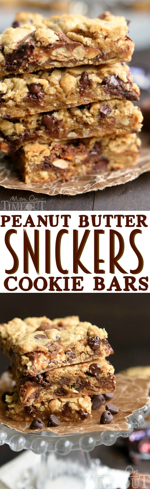 For PEANUT BUTTER LOVERS only! Gooey, decadent Peanut Butter Snickers Cookie Bars have loads of peanut butter flavor in every bite!