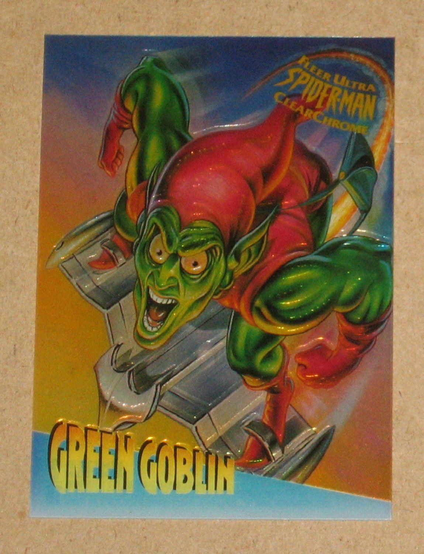 Spider Man Fleer Ultra 1995 Clearchrome Card 2 Green Goblin Nm