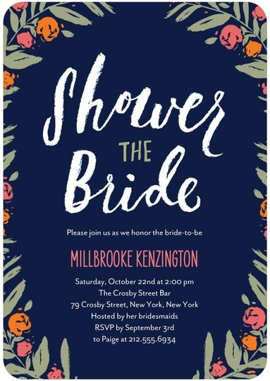 Wedding Stationery Wednesday A Bouquet Of Bridal Shower Invites WeddingWedding Paper DivasBridal