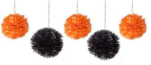 DIY Halloween pom-pom decorations   Cassiefairy - My Thrifty Life