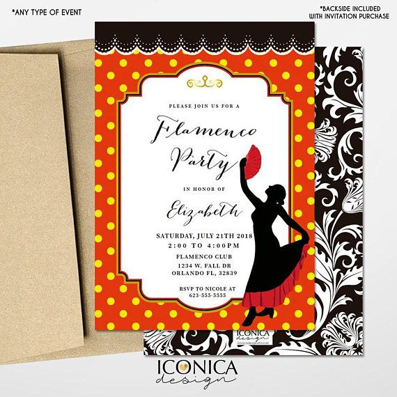flamenco party invitation flamenco printables fiesta española
