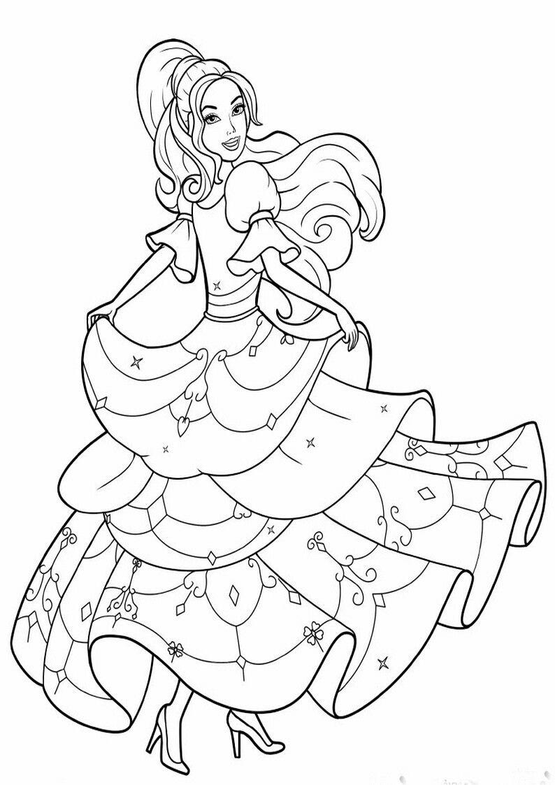 Pin By Roxanna Menendez On Barbie Coloring Barbie Coloring Pages Barbie Coloring Coloring Pages
