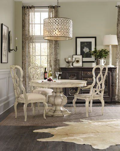 hooker furniture brooks pedestal dining table work dining rh pinterest com