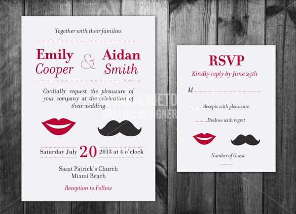Custom Wedding Invitations on Behance