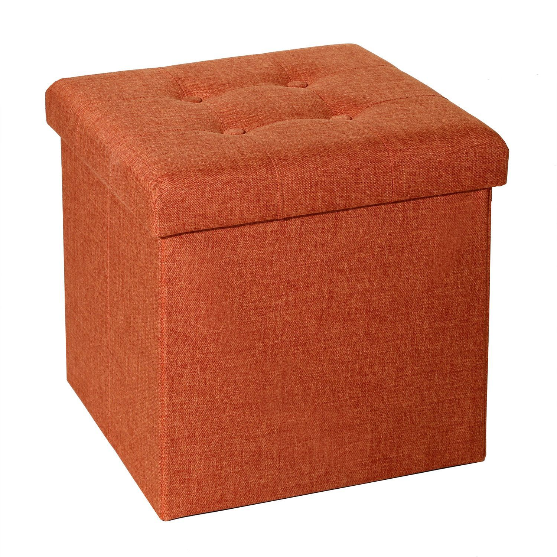 Tufted Foldable Storage Cube Ottoman Storage Cube Ottoman
